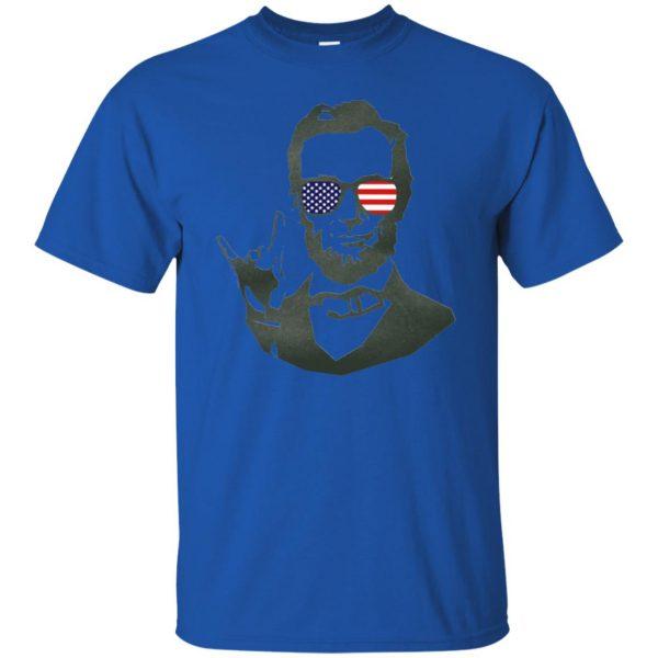 abe lincoln t shirt - royal blue