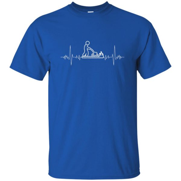 I Love Gardening Heartbeat t shirt - royal blue