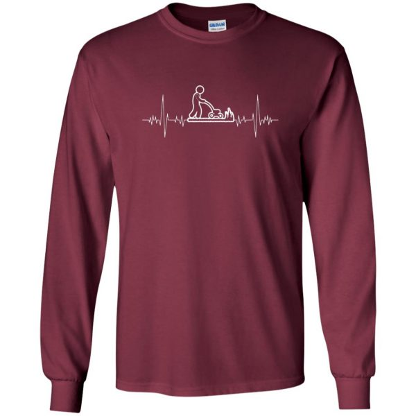I Love Gardening Heartbeat long sleeve - maroon