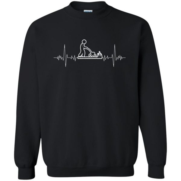 I Love Gardening Heartbeat sweatshirt - black