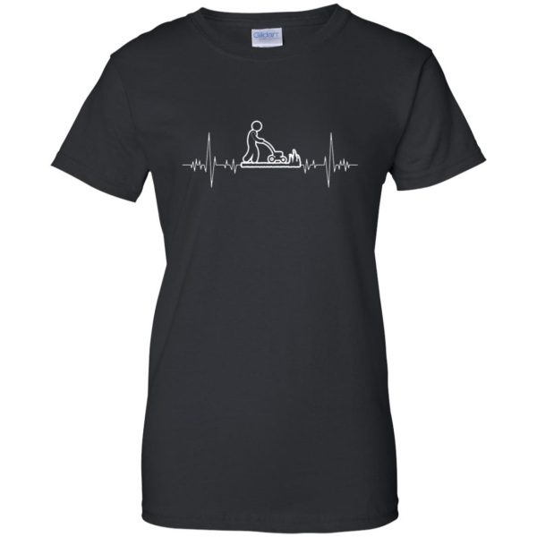 I Love Gardening Heartbeat womens t shirt - lady t shirt - black