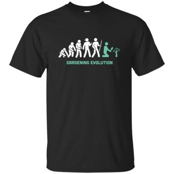Gardening Evolution T-shirt - black