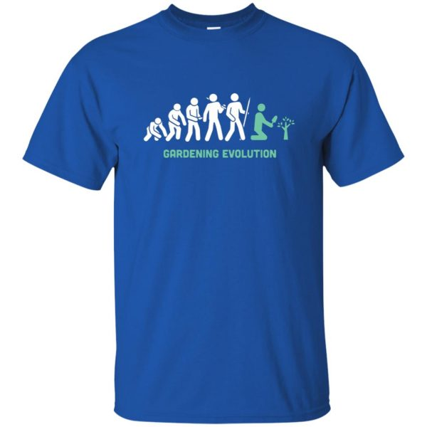 Gardening Evolution t shirt - royal blue