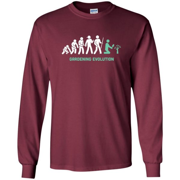 Gardening Evolution long sleeve - maroon