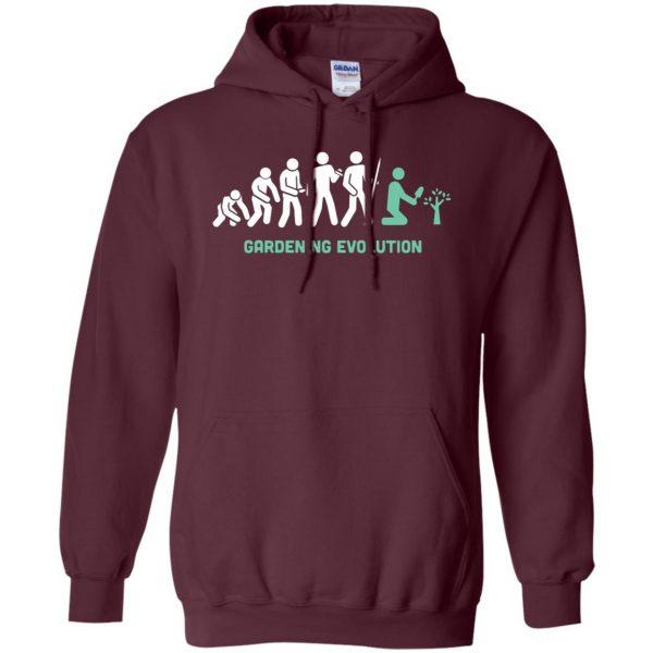 Gardening Evolution hoodie - maroon