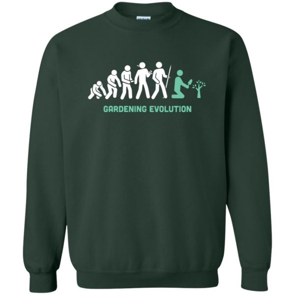Gardening Evolution sweatshirt - forest green
