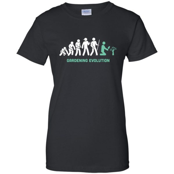 Gardening Evolution womens t shirt - lady t shirt - black