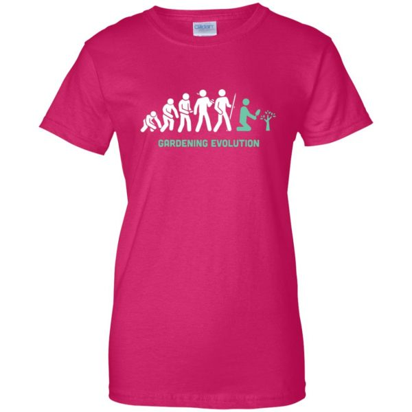 Gardening Evolution womens t shirt - lady t shirt - pink heliconia