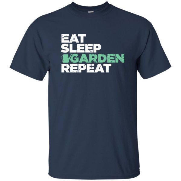 Eat, Sleep, Garden t shirt - navy blue