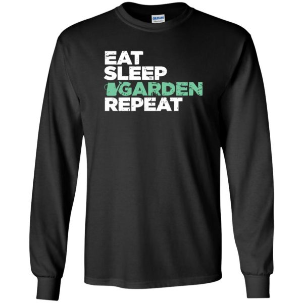 Eat, Sleep, Garden long sleeve - black