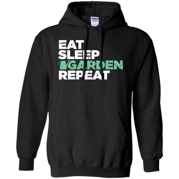 Eat, Sleep, Garden hoodie - black