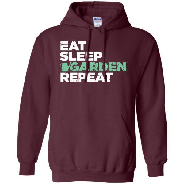 Eat, Sleep, Garden hoodie - maroon
