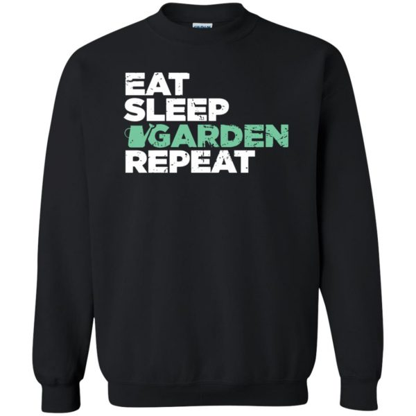 Eat, Sleep, Garden sweatshirt - black