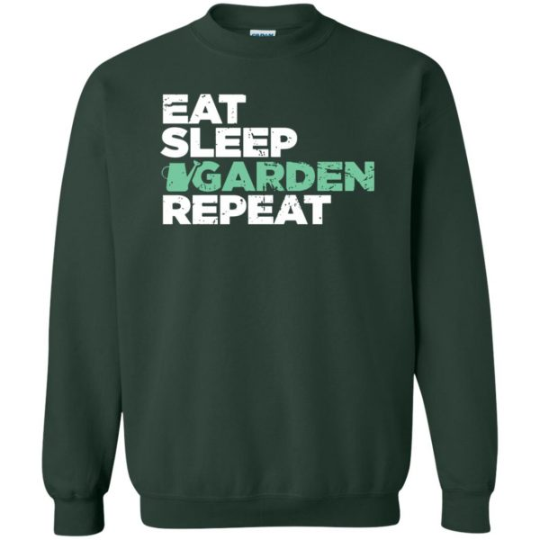 Eat, Sleep, Garden sweatshirt - forest green