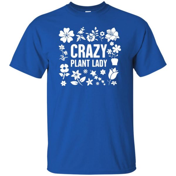 Crazy Plant Lady t shirt - royal blue
