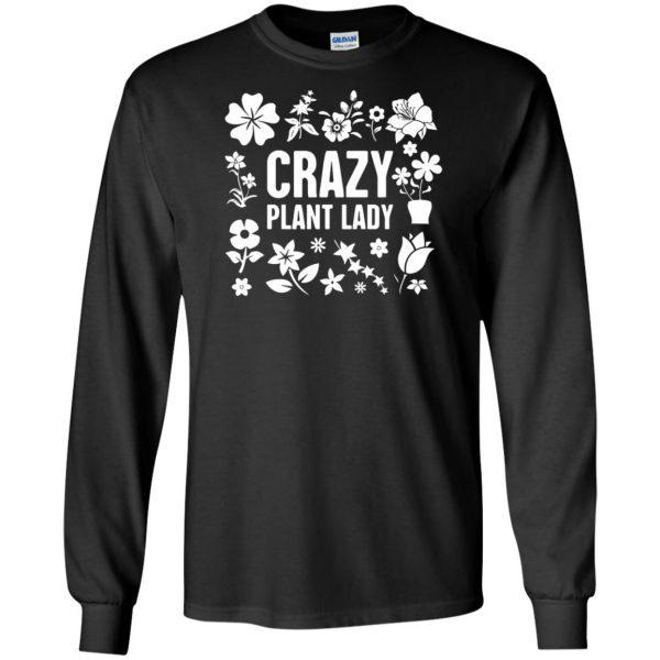 Crazy Plant Lady long sleeve - black