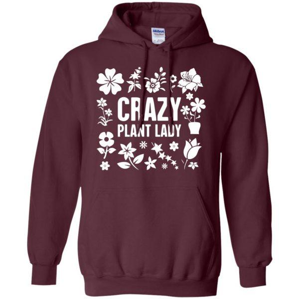 Crazy Plant Lady hoodie - maroon