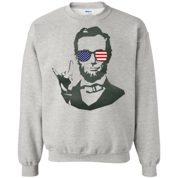 abe lincoln sweatshirt - ash