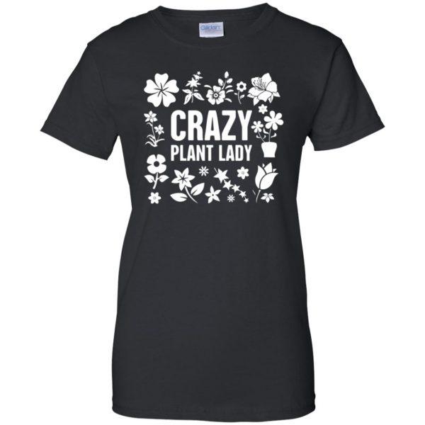 Crazy Plant Lady womens t shirt - lady t shirt - black