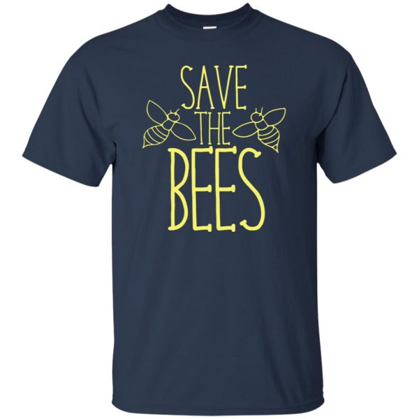 Save the bees t shirt - navy blue