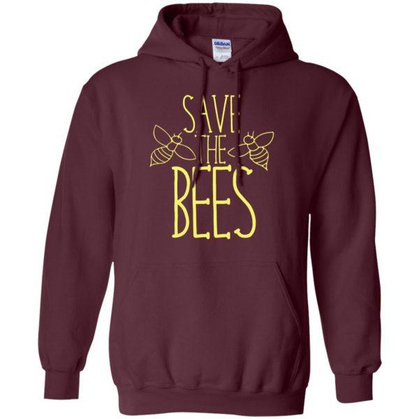 Save the bees hoodie - maroon