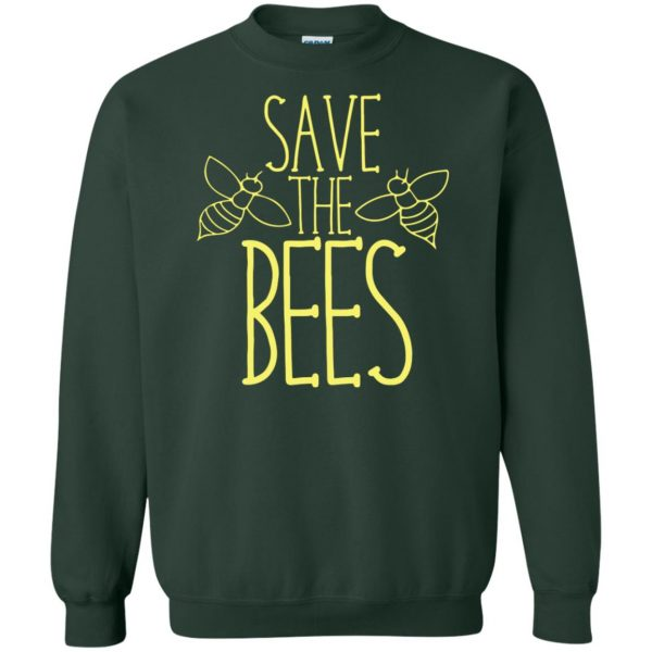Save the bees sweatshirt - forest green