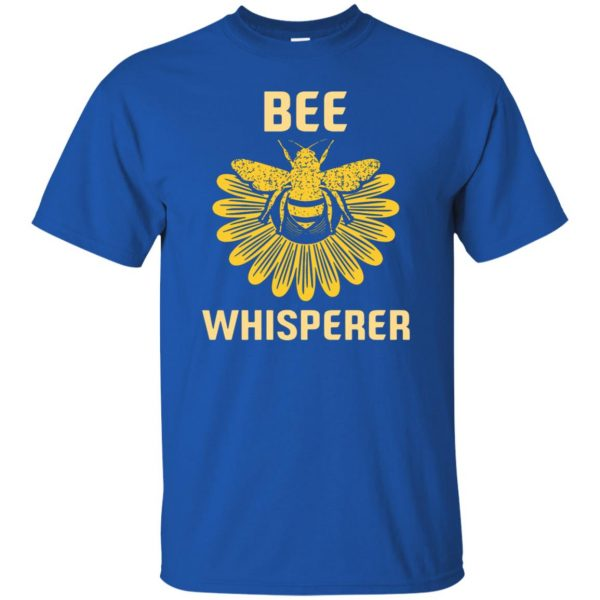 Bee Whisperer t shirt - royal blue