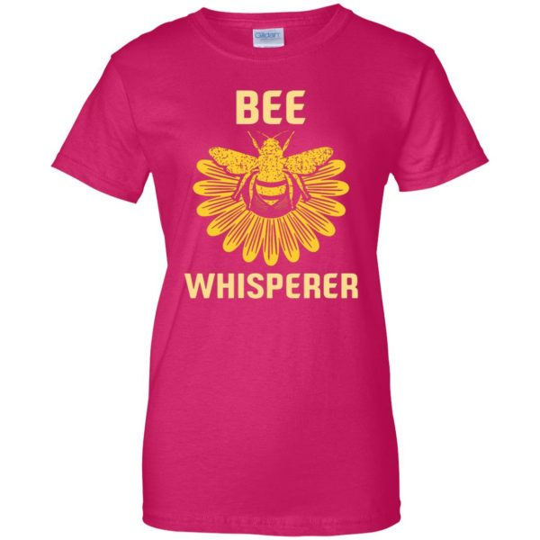 Bee Whisperer womens t shirt - lady t shirt - pink heliconia