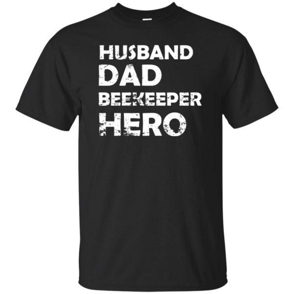 Husband Dad Beekeeper Hero T-Shirt - black