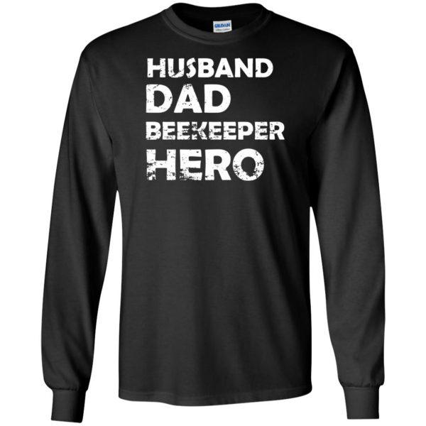 Husband Dad Beekeeper Hero long sleeve - black
