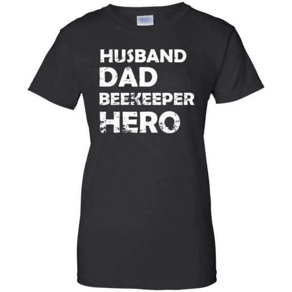 Husband Dad Beekeeper Hero womens t shirt - lady t shirt - black