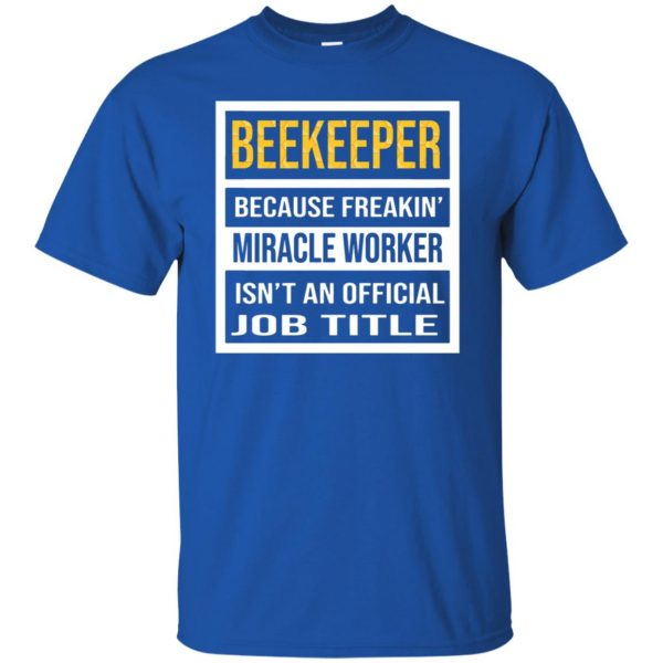 Beekeeper - Job Title t shirt - royal blue