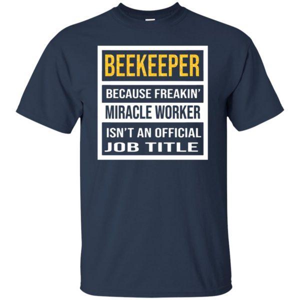 Beekeeper - Job Title t shirt - navy blue
