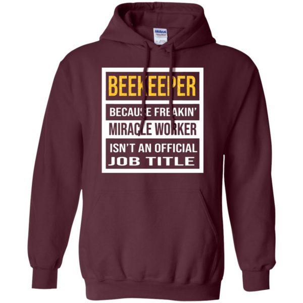 Beekeeper - Job Title hoodie - maroon