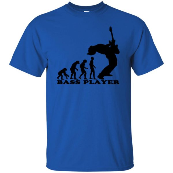 Bass Guitar Evolution t shirt - royal blue