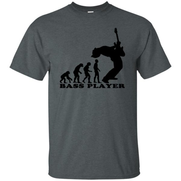 Bass Guitar Evolution t shirt - dark heather