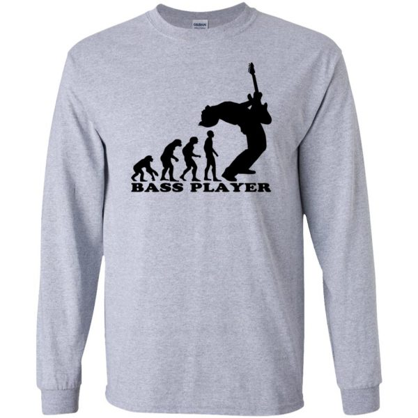 Bass Guitar Evolution long sleeve - sport grey