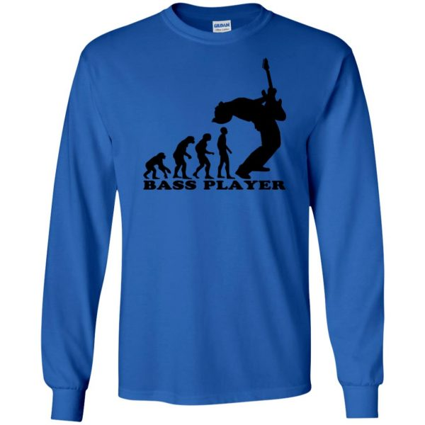 Bass Guitar Evolution long sleeve - royal blue