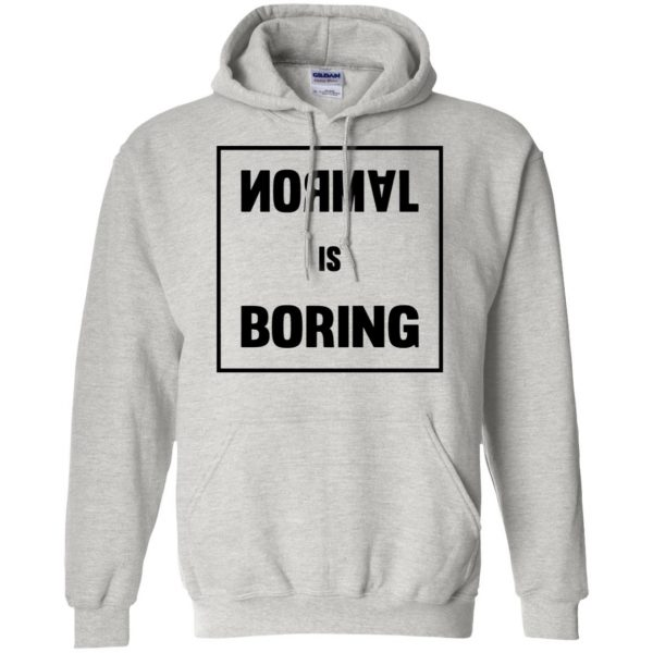normal is boring hoodie - ash
