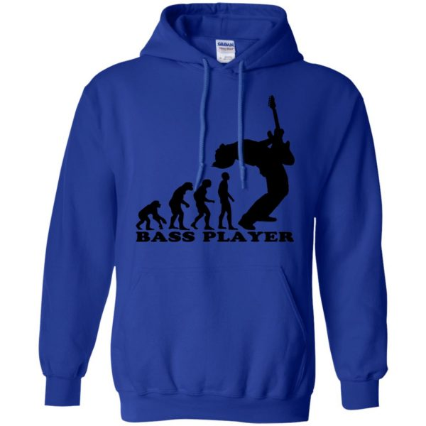 Bass Guitar Evolution hoodie - royal blue