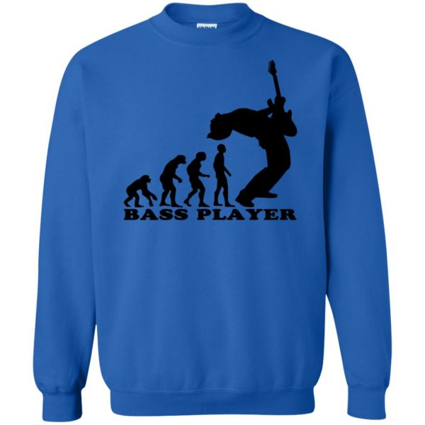 Bass Guitar Evolution sweatshirt - royal blue