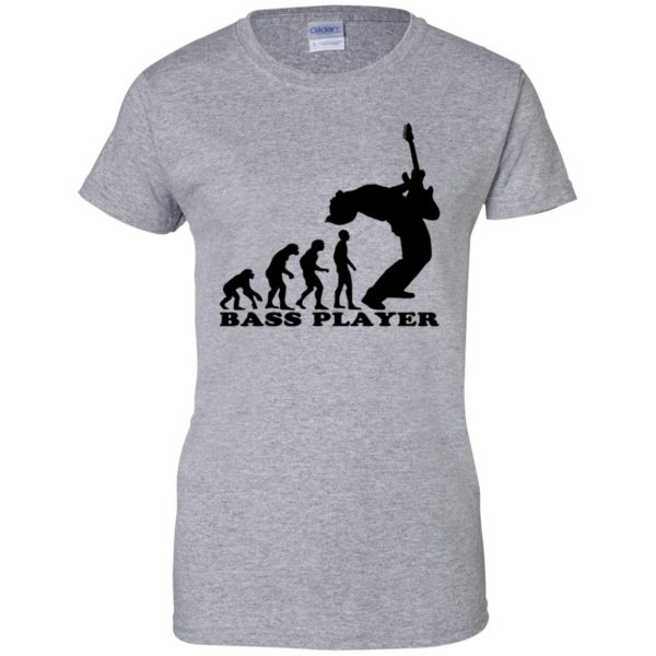 Bass Guitar Evolution womens t shirt - lady t shirt - sport grey