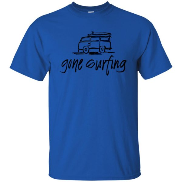 Gone Surfing t shirt - royal blue