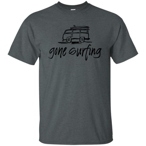 Gone Surfing t shirt - dark heather