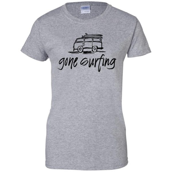 Gone Surfing womens t shirt - lady t shirt - sport grey