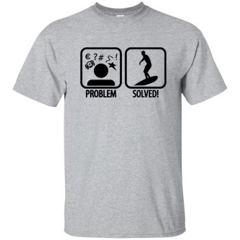 Problem - Solved - Surfing T-shirt - sport grey