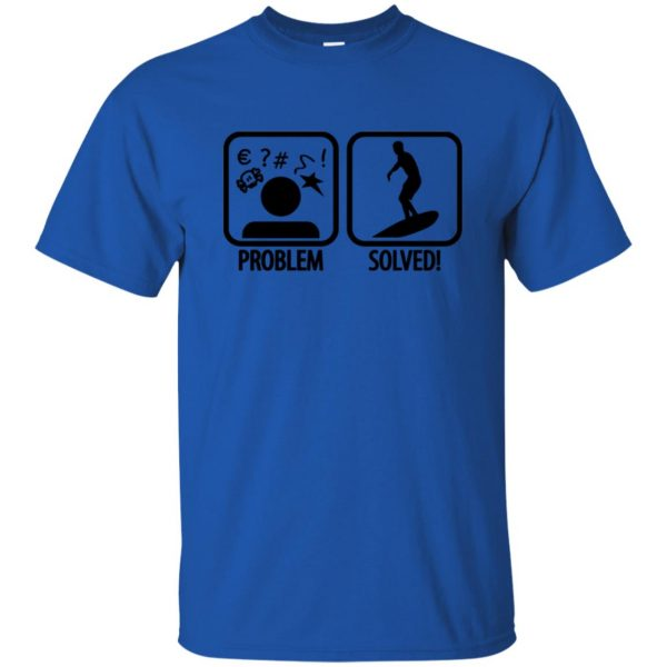Problem - Solved - Surfing t shirt - royal blue