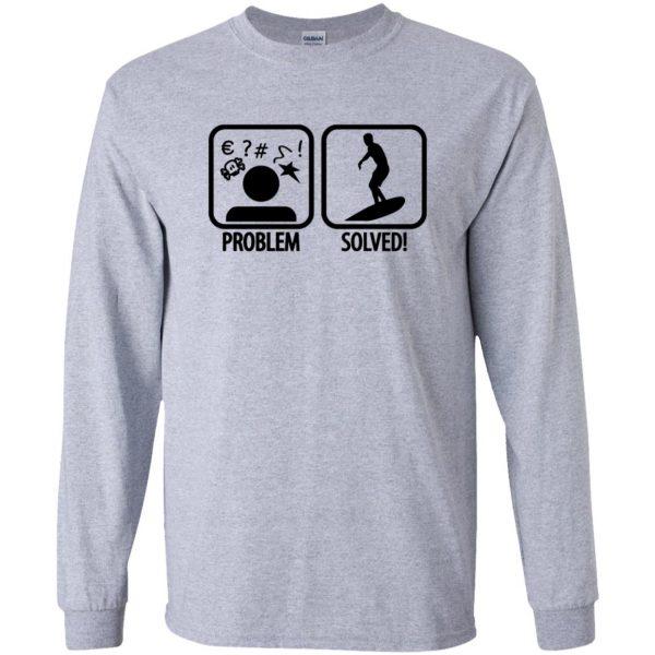 Problem - Solved - Surfing long sleeve - sport grey