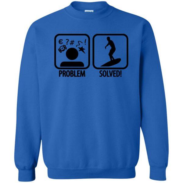 Problem - Solved - Surfing sweatshirt - royal blue