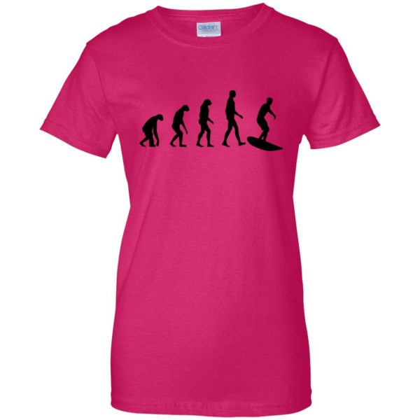Evolution Surf womens t shirt - lady t shirt - pink heliconia